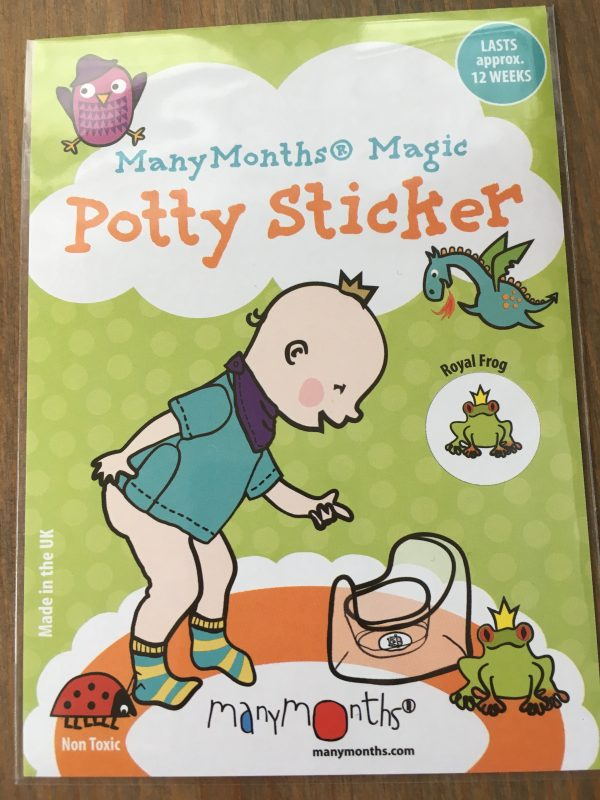 ManyMonths Potty Sticker - Royal Frog