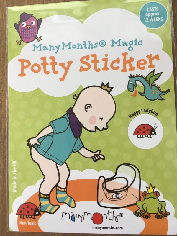 ManyMonths Potty Sticker - Happy Ladybug