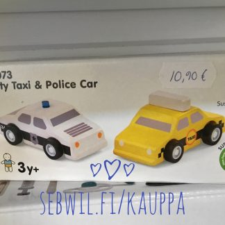 Plan Toys Taxi and Police Car